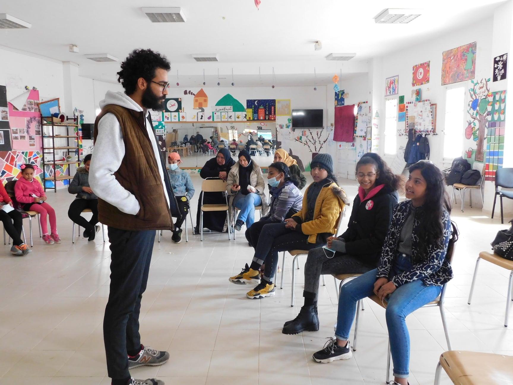Projet Shabab : avancement des projets élaborés par les adolescent.e.s de Borj El Amri
