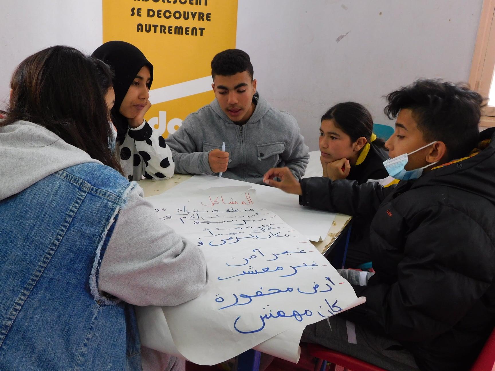 Projet Shabab : Clôture de la session de formation  en faveur des adolescent.e.s de Douar Hicher