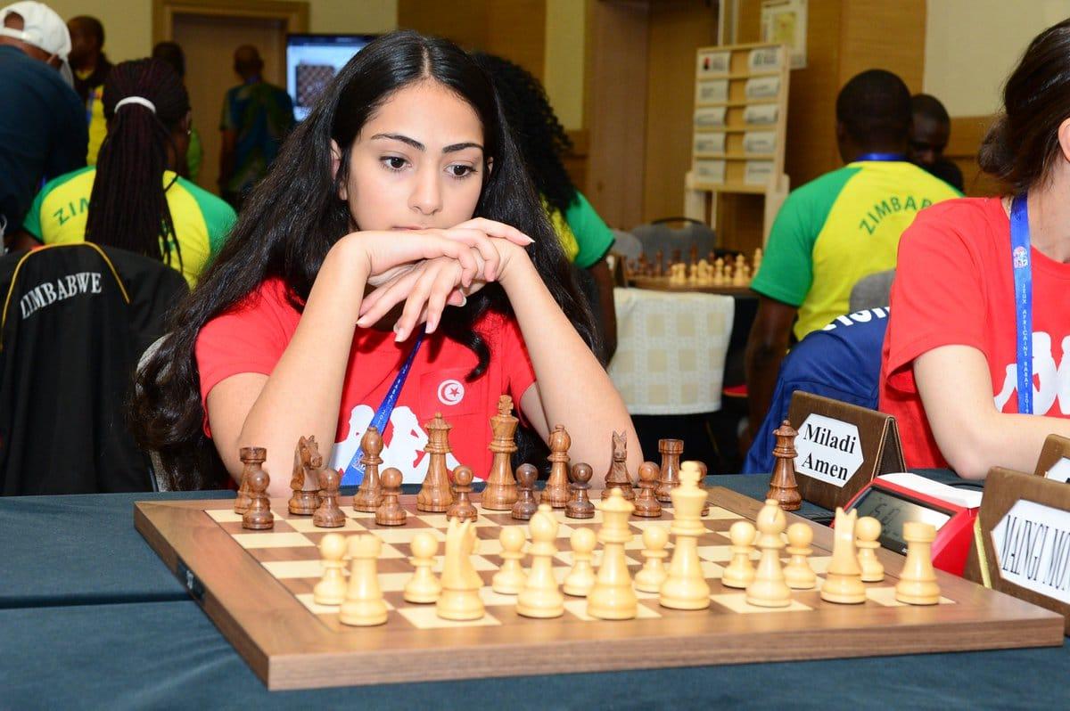 أمان ميلادي بطلة افريقيا في الشطرنج